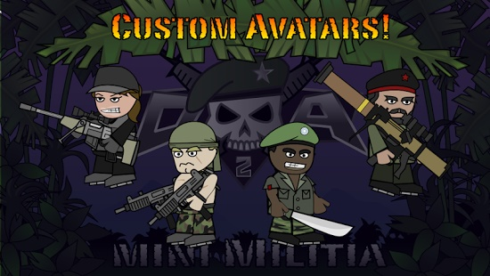 Doodle Army 2 Mini Militia No name / Blank Name of Avatar (Blank Avator Name)