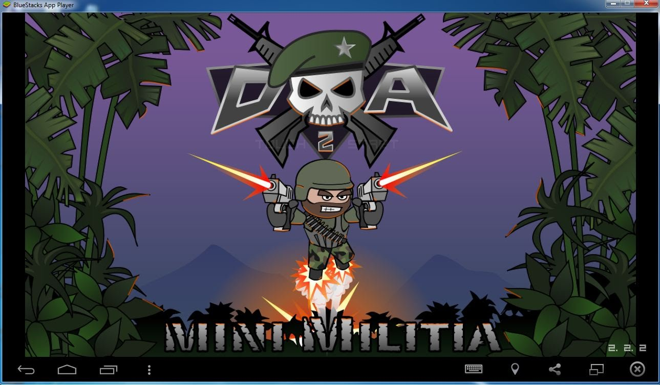 Mini Militia Death Sprayer Mod Apk (Rocket Launcher with Saw