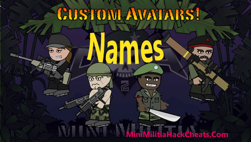 55+ Popular Mini Militia Avatar Names List for Doodle Army 2 Game 12
