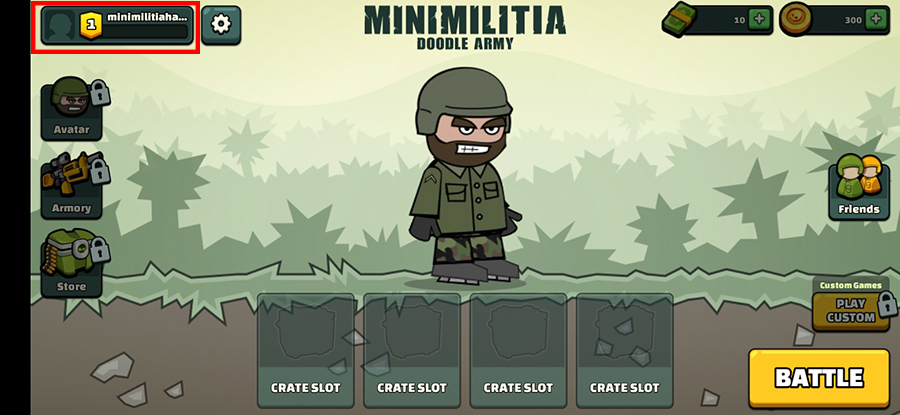 mini Militia avatar name change 1