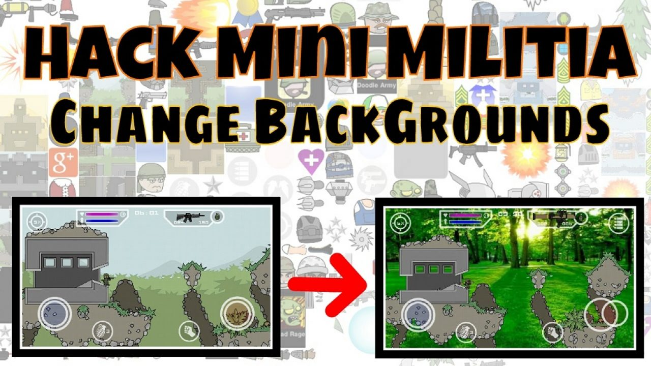 Mini Militia Invisible Hack [+Mod Apk] + Add Face + Background