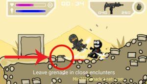 Quickly leave grenade in close encounters