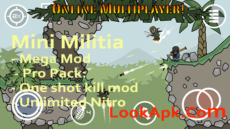 Mini Militia Hack: Pro Pack Unlocked+ All item Purchased latest Version MM Mod 2