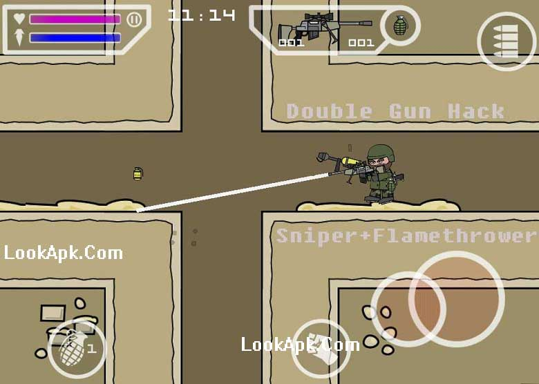 Double-gun-apk Mini Militia Double Gun – Unlimited Ammo MOD with Dual Wield Weapons