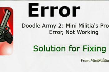 Mini Militia Error problem to fix solution