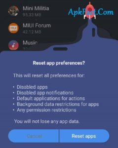 Resetting-the-app-preferences-with-set-default-settings-239x300 Common Mini Militia Problems and How to Fix them (Doodle Army 2 Crash solve)