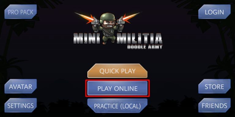 Play online Mini-Militia with Friends-
