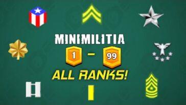 Mini Militia All Ranks With Levels And Cash Rewards Latest Mini Militia Ranks 2021