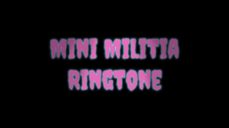 Mini Militia Ringtone, BGM, Notification SMS Tones Download for Free